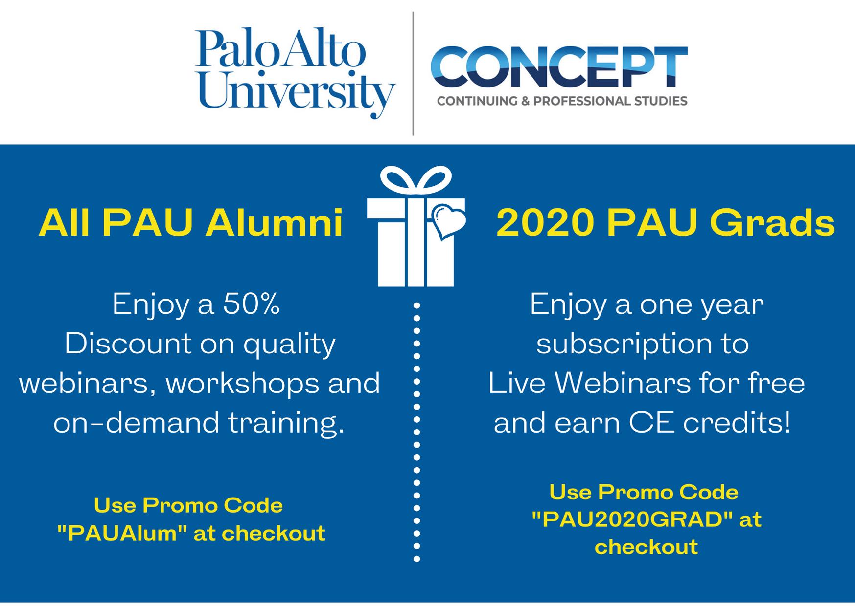 2020 PAU Concept Alumni Discounts