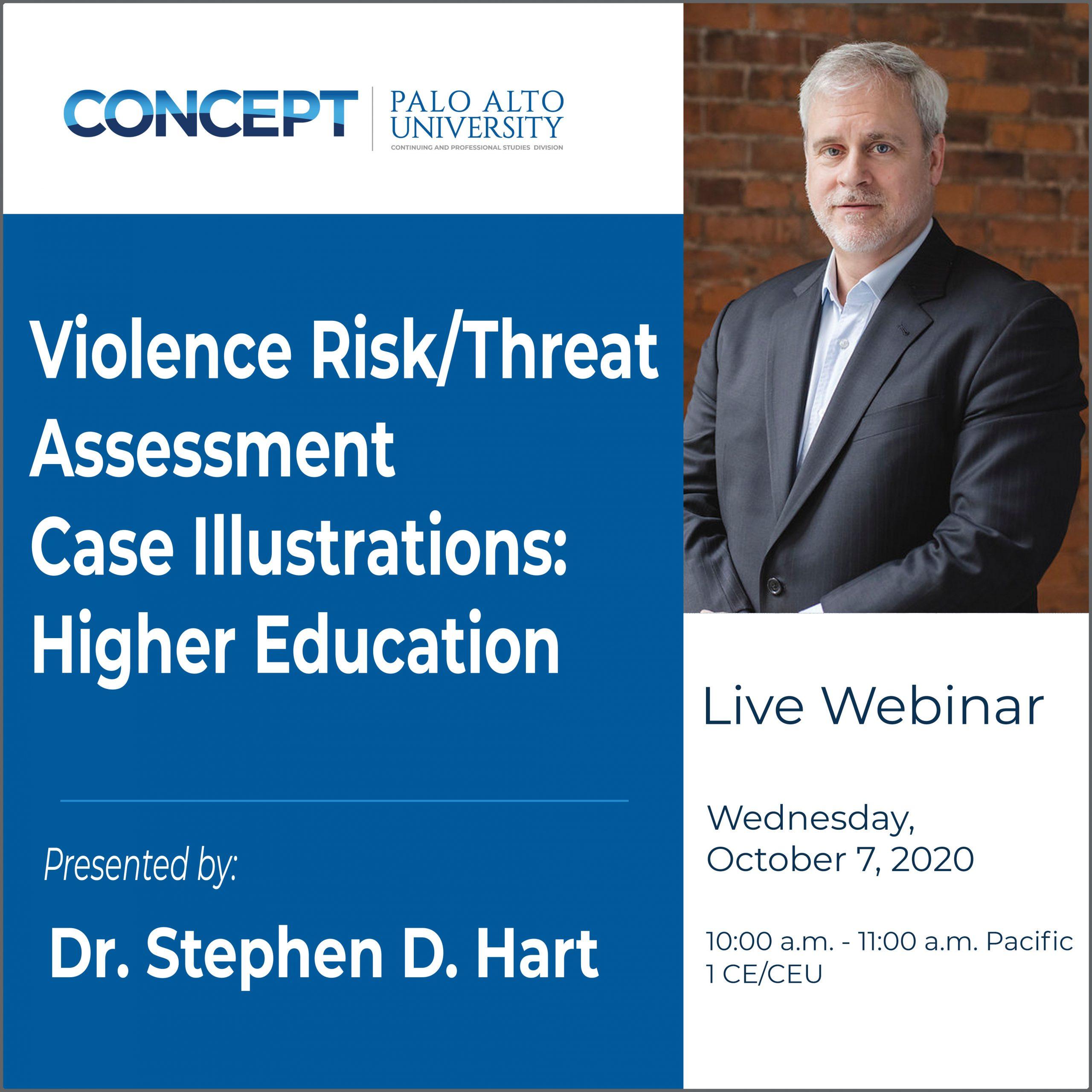 CONCEPT Violence Risk Assessment Dr Stephen Hart Oct 7 2020