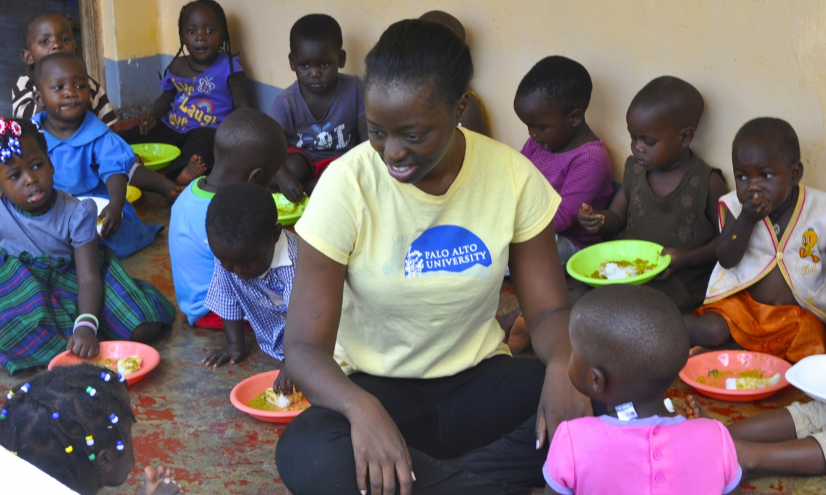 Granica Faith Nansembe at the John and Faith Children's Resource Center