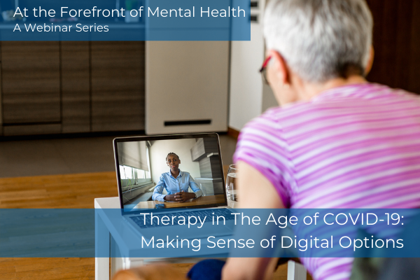 At the Forefront of Psychology and Counseling Webinar Series