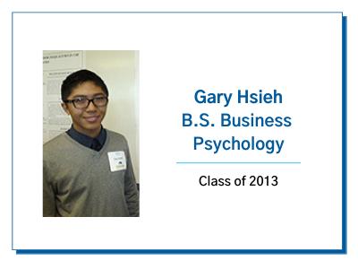 Palo Alto University Graduate Gary Hsieh B.S. Business Psychology Testimonial Image