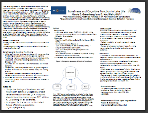PAU Poster at APA - Loneliness Cognitive