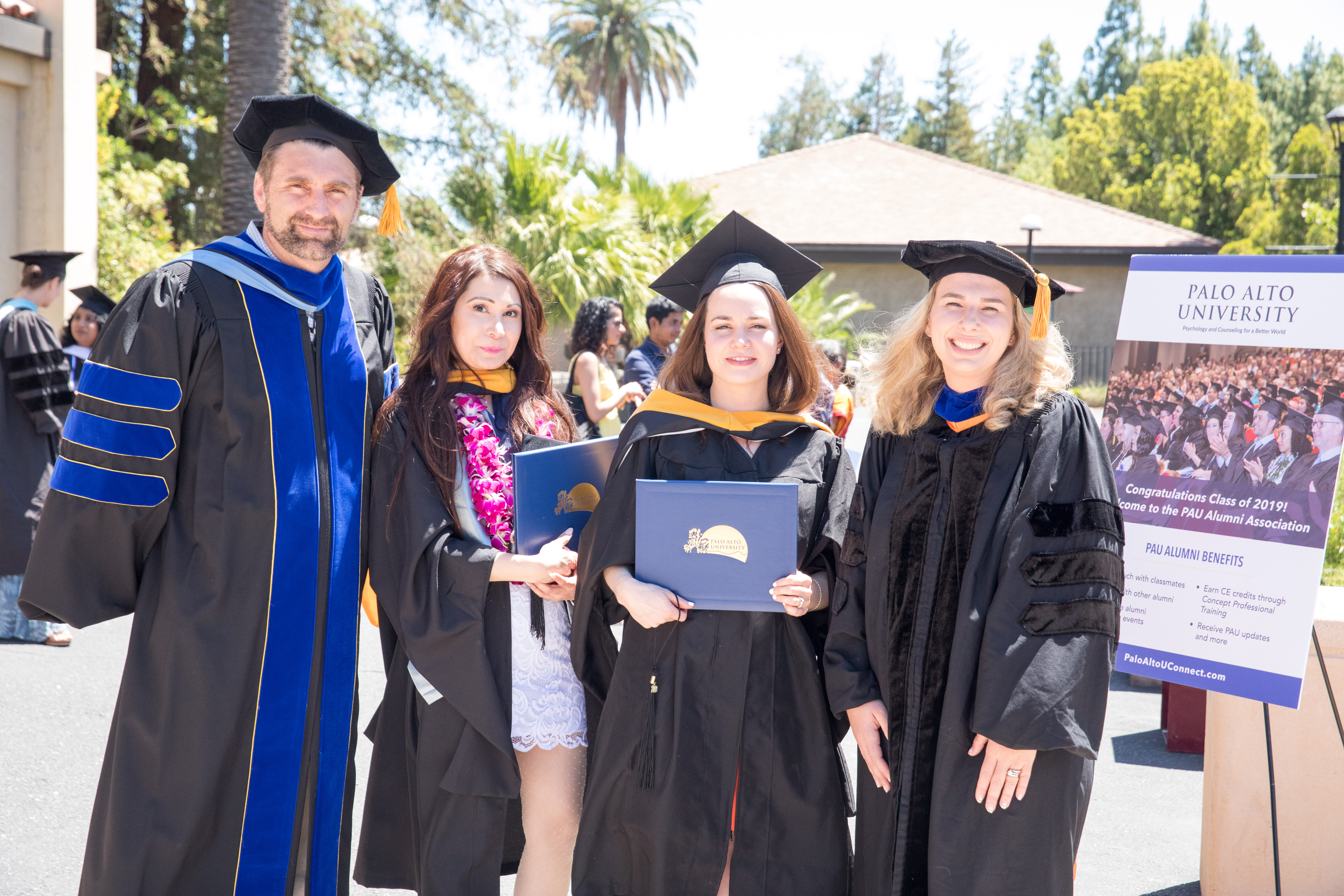 Students at Palo Alto University's 2019 graduation
