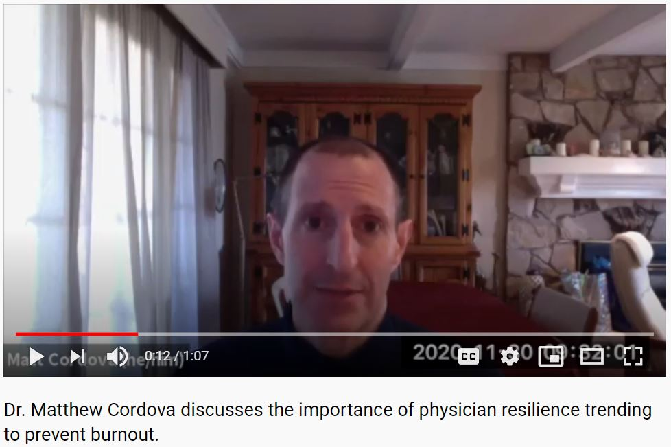 Matt Cordova Physician Burnout