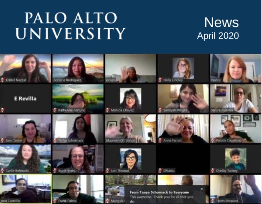 Palo Alto University News April 2020 Newsletter