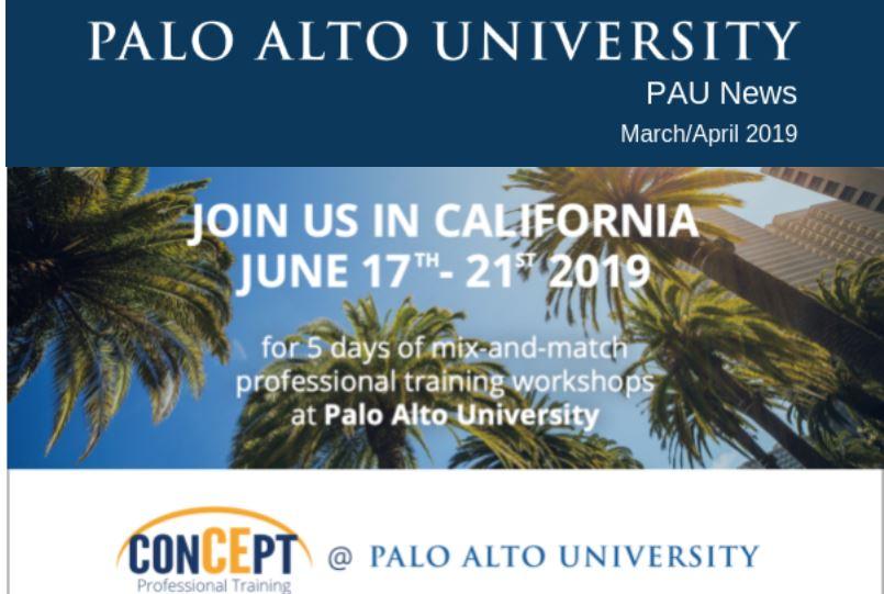 Palo Alto University March-April 2019 Newsletter