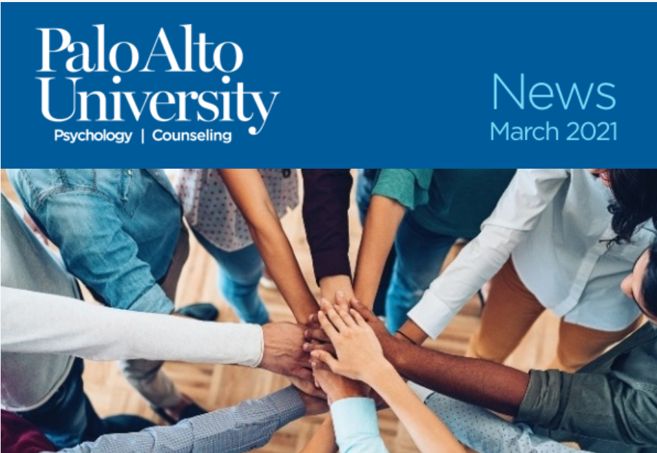Palo Alto University March 2021 Newsletter Image