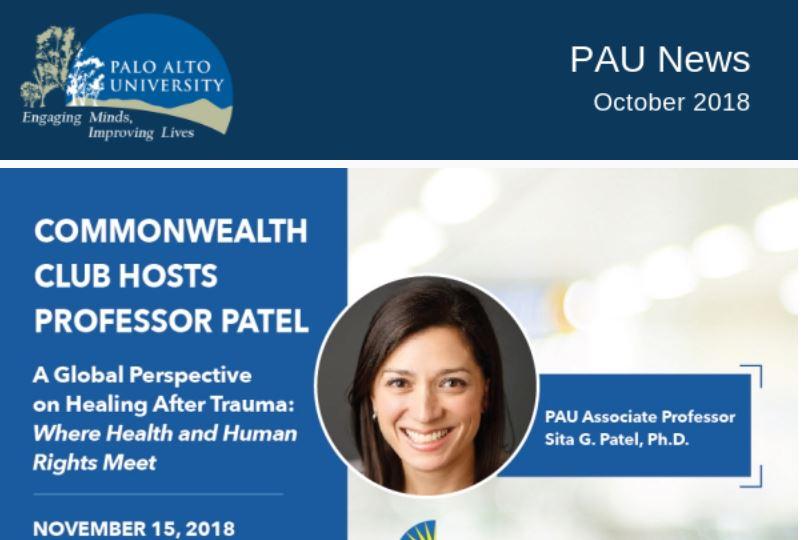 Palo Alto University October 2018 Newsletter