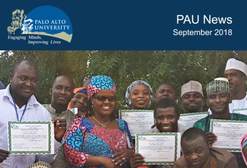 Palo Alto University September 2018 Newsletter