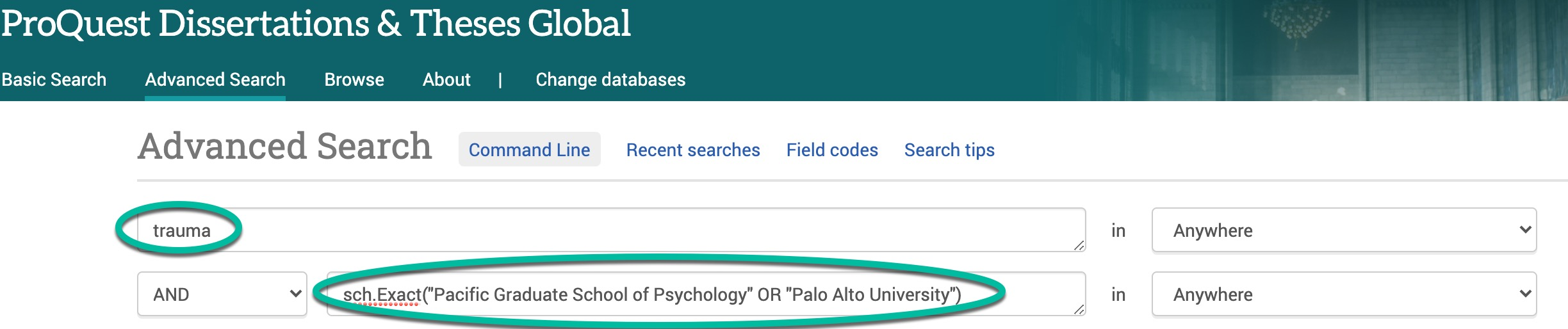 PQDT search for keywords among all PAU dissertations