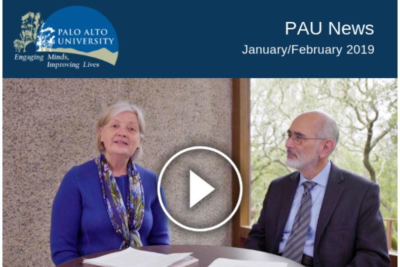 Palo Alto University January February 2019 Newsletter