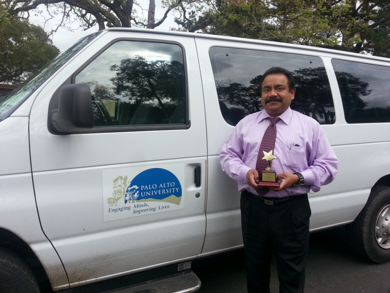 Mr. Jose Chavarria by his van