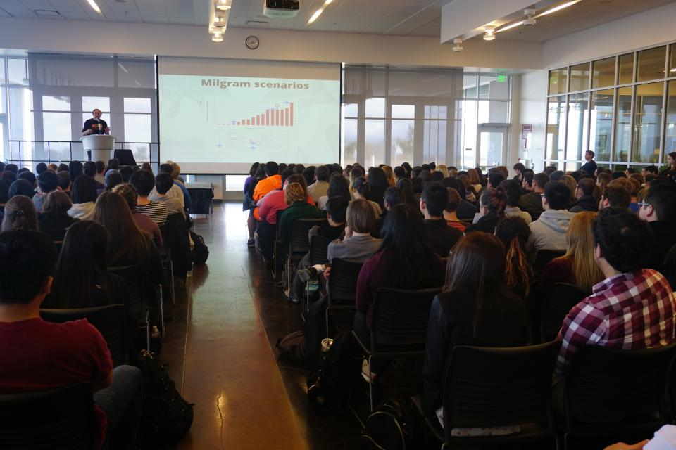 Philip Zimbardo Lecture at College of San Mateo for Palo Alto University Bachelor's Students
