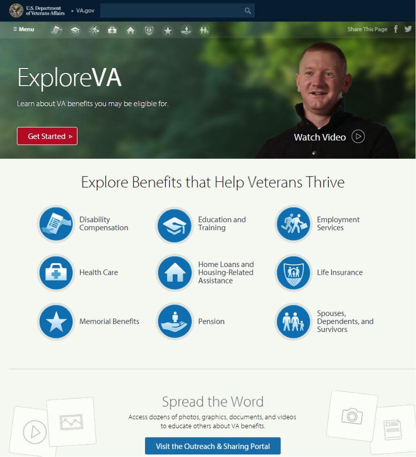 Explore VA.gov Screenshot