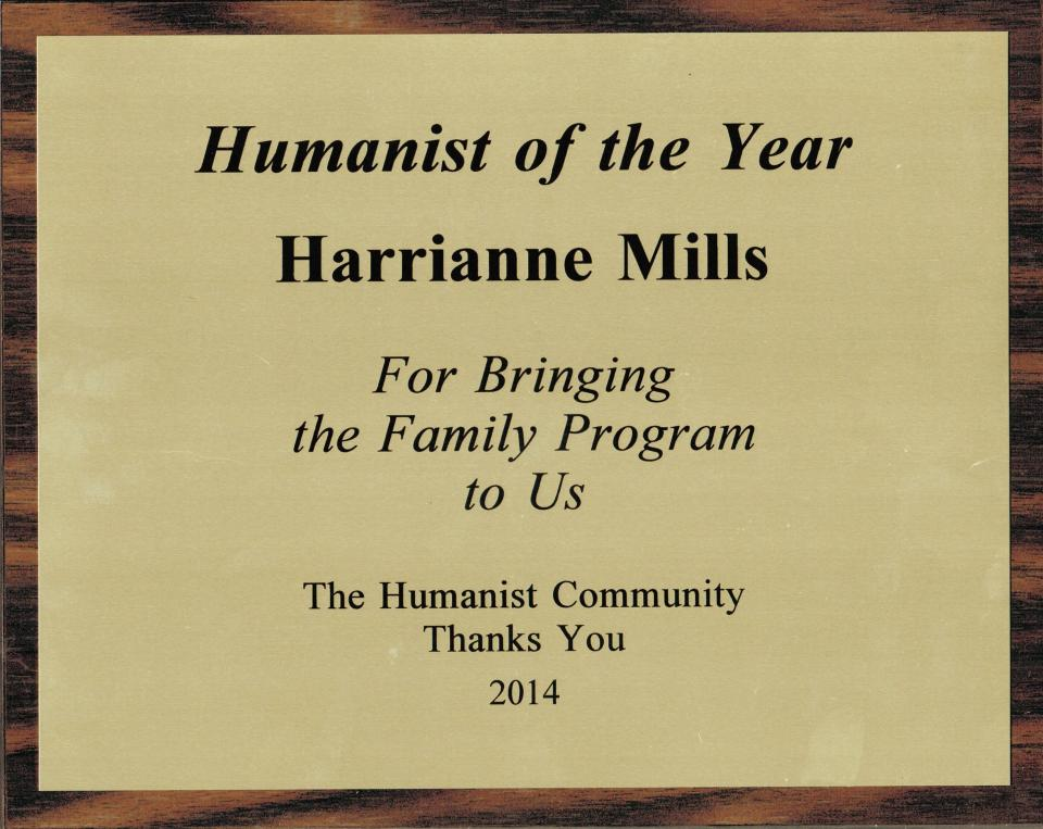 Humanist of the Year Harrianne Mills