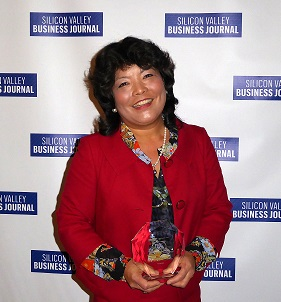 June Klein with award