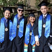 Palo Alto University bachelor's degree in psychology transfer students on graduation day