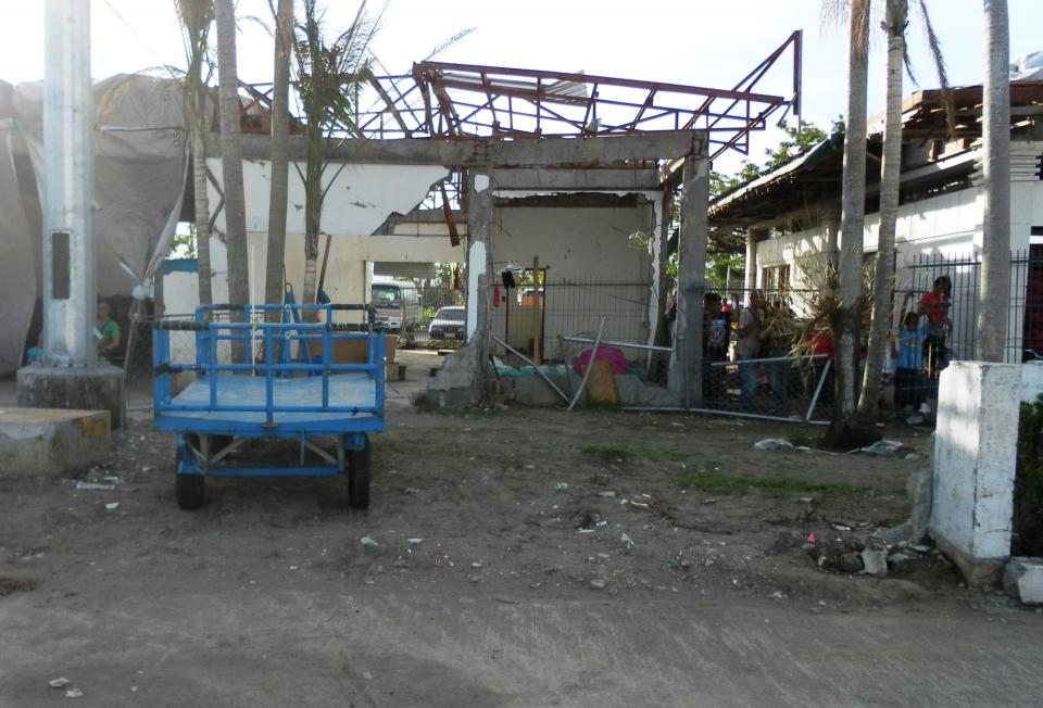 T acloban Domestic Airport, T acloban City, Leyte Province, where we landed five weeks after Typhoon Yolanda