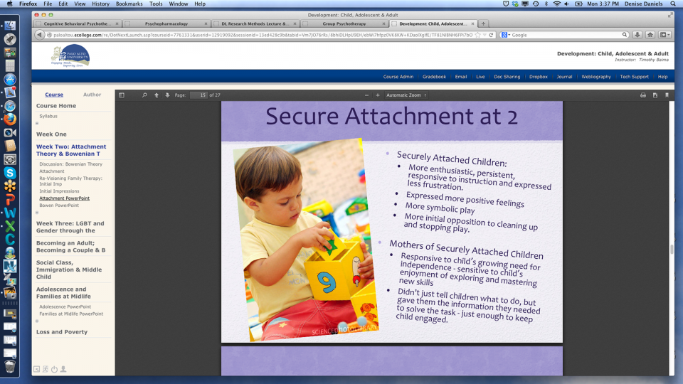 Example online course syllabus and secure attachment