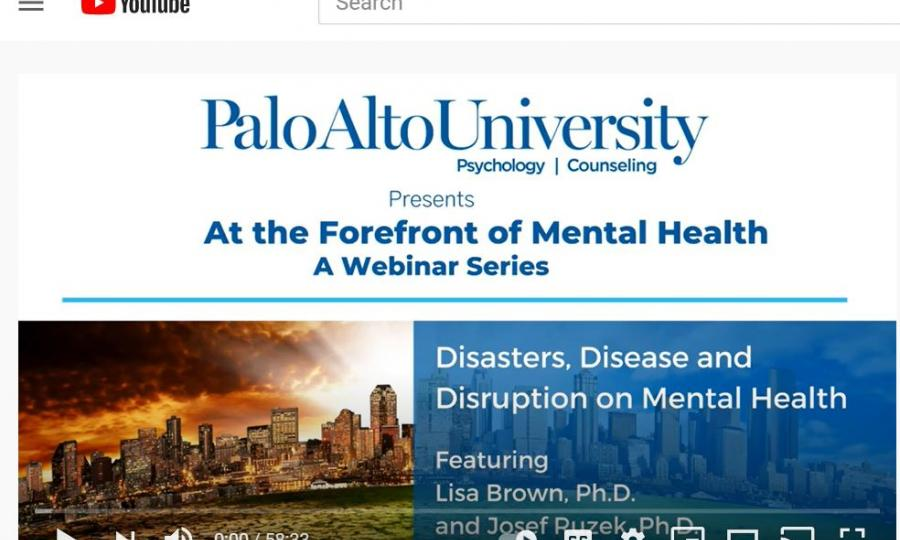 At the Forefront of Mental Health Webinar Series Graphic