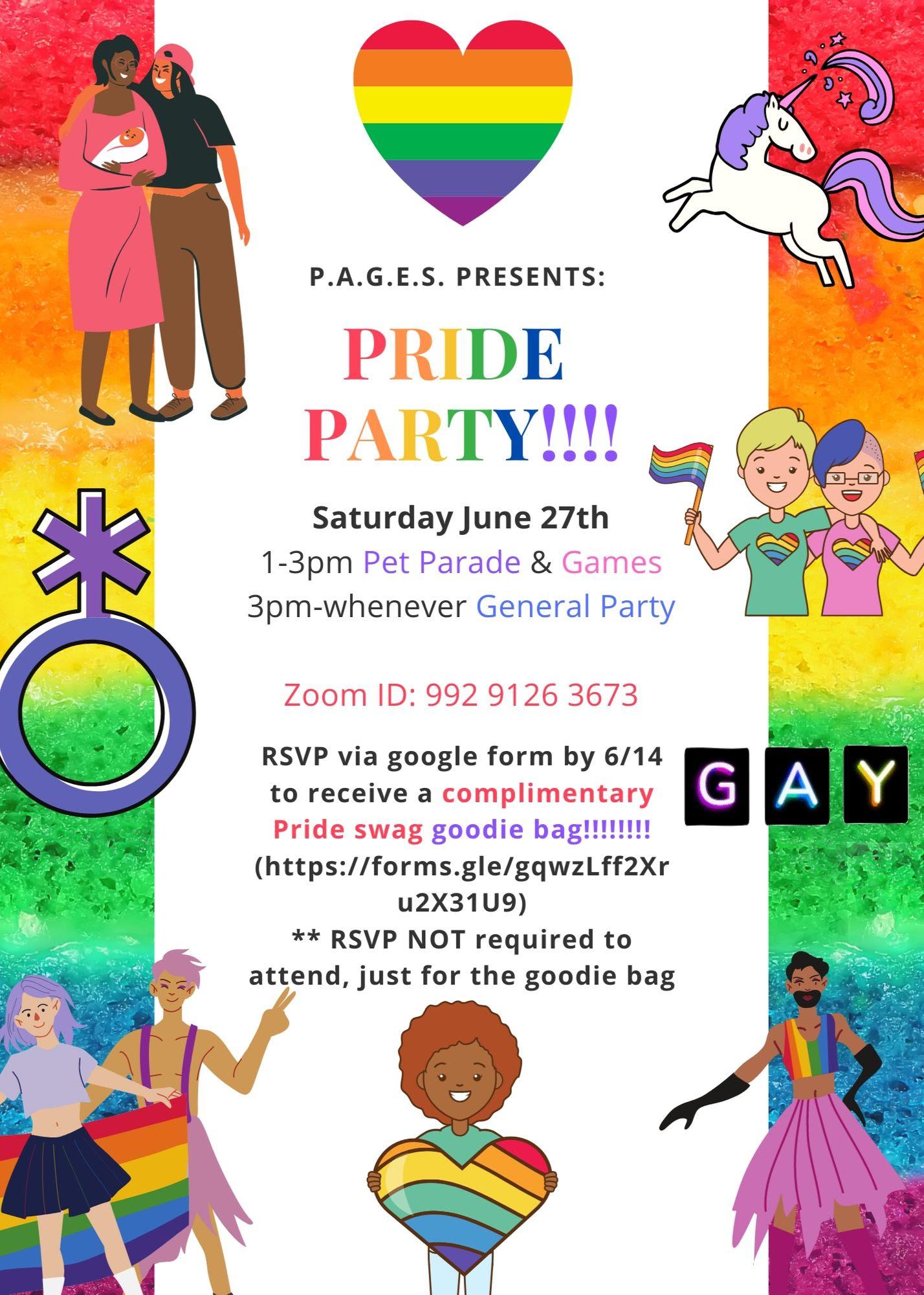 PAU Pride Party Flyer